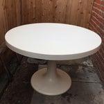 Image of 1960s Fiberglass Round Tulip Table