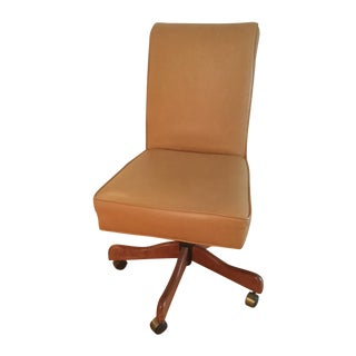Sam Moore Wheeled Leather Desk Chair