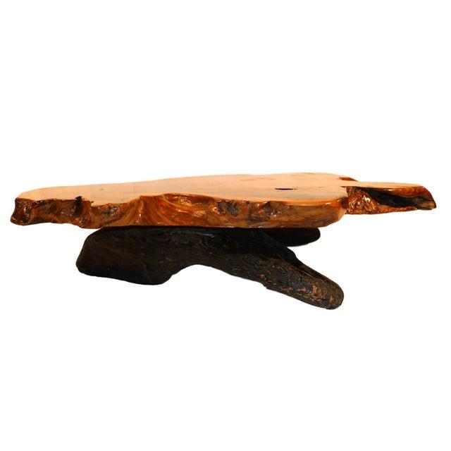 Mid-Century Live Edge Wood Coffee Table - Image 7 of 10