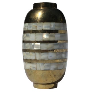 Brass & Mother of Pearl Vase