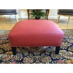 Image of Contemporary Red Ottoman