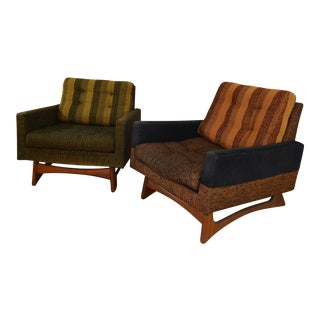 Adrian Pearsall Craft Associates Club Chairs - A Pair