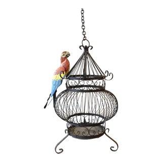 Antique Victorian Cast Iron Birdcage