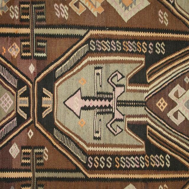 """Vintage Kars Kilim - 5'7"""" X 8'8"""" - Image 4 of 6"""