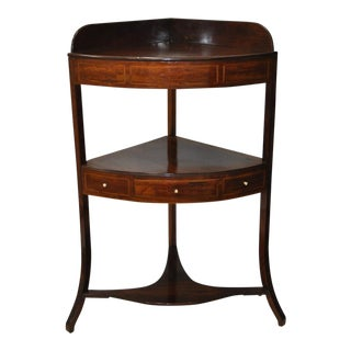 Two Tier Mahogany Corner Table c.1910