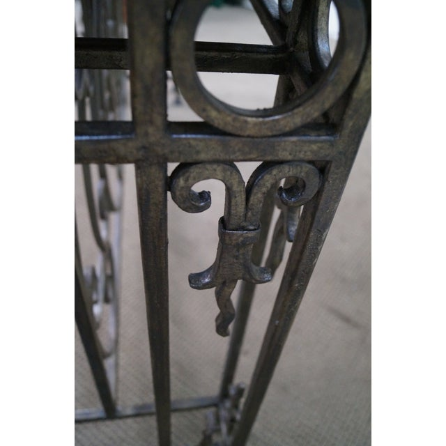 Iron Gothic Style Slate Top Console Table - Image 8 of 10