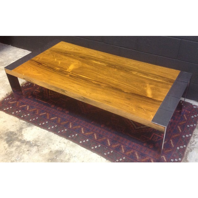 Milo Baughman Rosewood & Chrome Coffee Table - Image 3 of 8