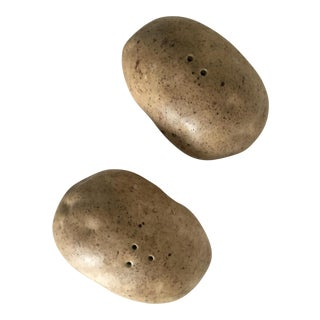 Potato Shaped Salt and Pepper Shakers - A Pair