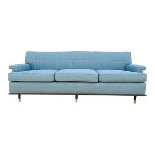 Mid-Century Sky Blue Sofa