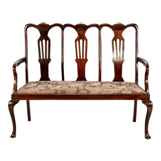 Chippendale Style Mahogany High Back Settee