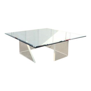 Lucite Coffee Table With Matching Side Tables
