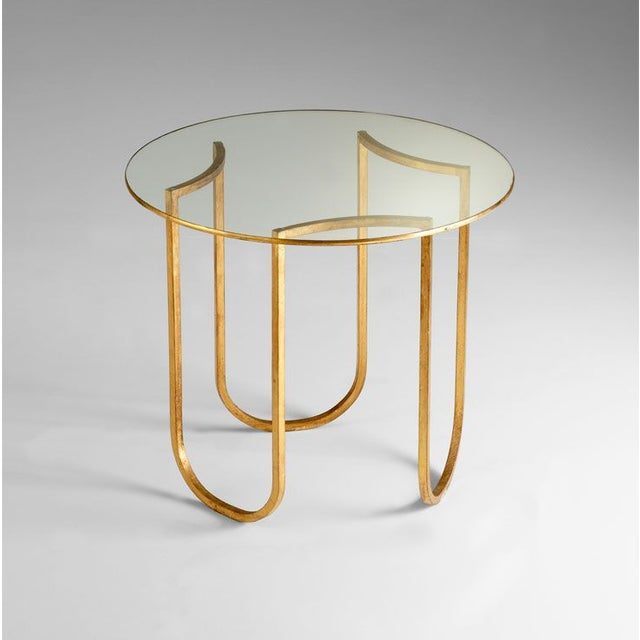 Gold and Glass Vincenzo End Tables - A Pair - Image 2 of 4