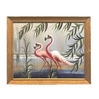 Hollywood Regency Flamingo Art