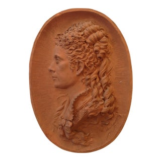 Victorian French Earthenware Portrait