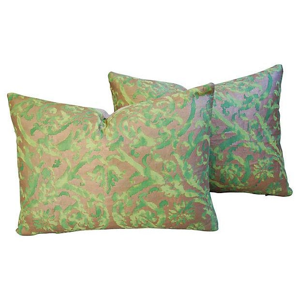 Image of Designer Italian Fortuny Farnese Pillows - A Pair