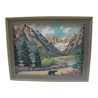 Brown Bear Paint by Numbers Painting