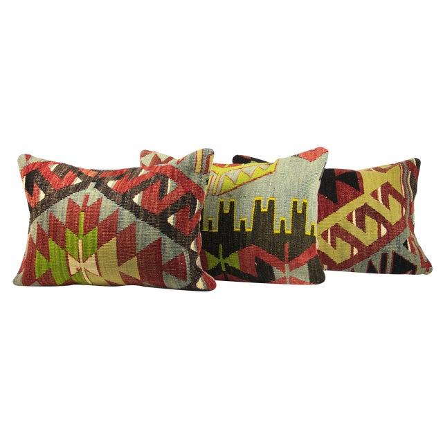 Matching Lumbar Kilim Pillows - Set of 3 - Image 1 of 3