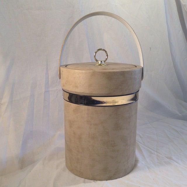 Image of Mid-Century Camel Vinyl Ice Bucket
