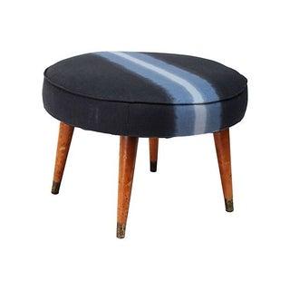 Mid-Century Upholstered Footstool