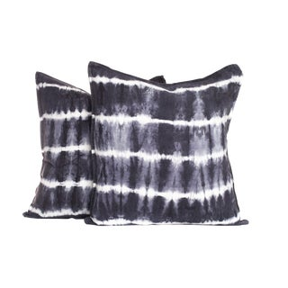 Tie Dye Stripe Pillows - A Pair