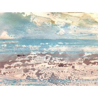 """Blue Sky"" Handmade Monotype"