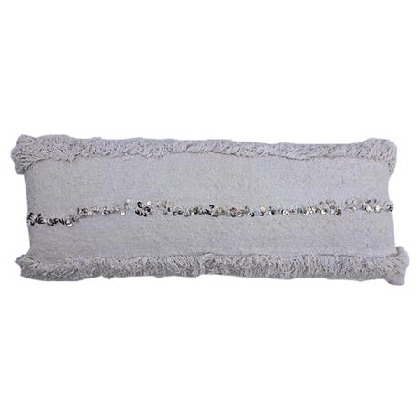 Oversized Moroccan Handira Lumbar Pillow - Image 1 of 7