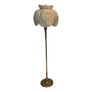 Vintage Wicker Floor Lamp