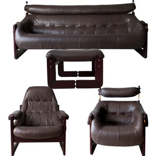 Percival Lafer Sofa, Chairs & Ottoman - Set of 4