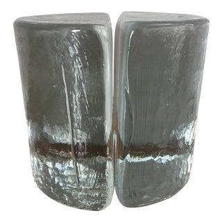 Blenko Art Glass Bookends - A Pair