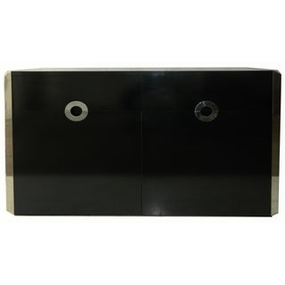 Mario Sabo 1970s Italian Black Lacquered Sideboard