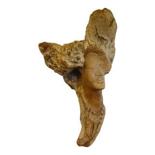 Vintage Driftwood Carved Sculpture