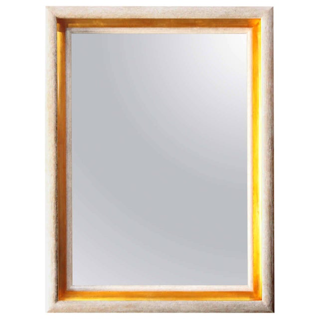 Paul Marra Design Cove Mirror in Driftwood and Gold - Image 1 of 6