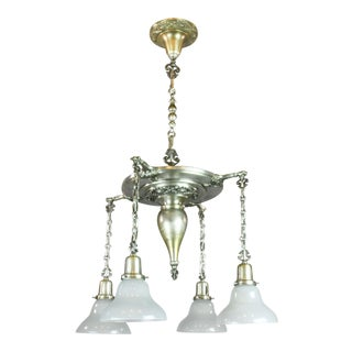 Sears, Roebuck & Co. (Chicago & Philadelphia) Silver Plated Shower Light Fixture (4-Light)