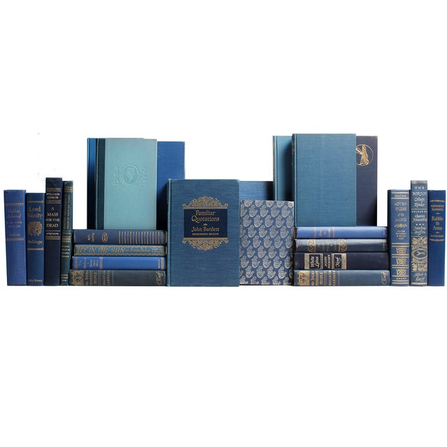 Decorative Gilt Blue Books- Set of 24 - Image 1 of 2