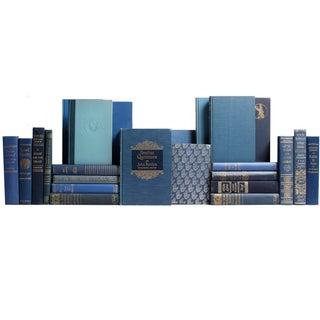 Decorative Gilt Blue Books- Set of 24