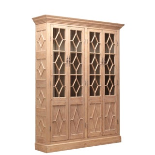 Sarreid LTD Pine Book Cabinet