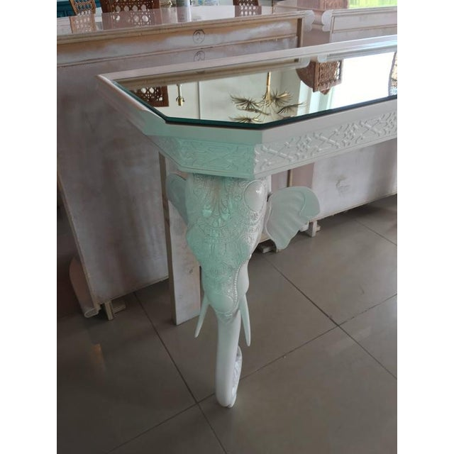 Gampel-Stoll White Elephant Console Table - Image 4 of 11