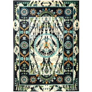 """Suzani Hand Knotted Area Rug - 10'2"""" X 13'9"""""""