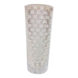 Tiffany Woven Crystal Cylinder Vase
