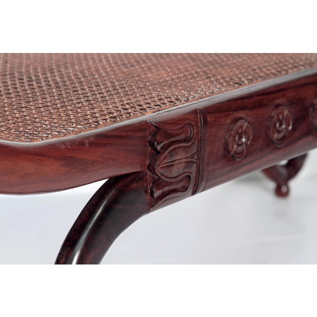 Group of Four English Style Carved Walnut Benches - Image 8 of 11