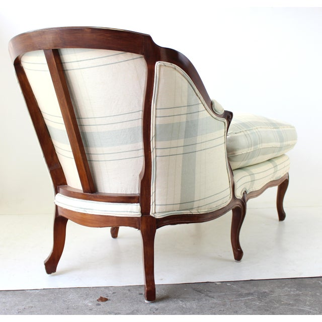 Vintage french country chaise lounge chairish for Vintage parisian lounge