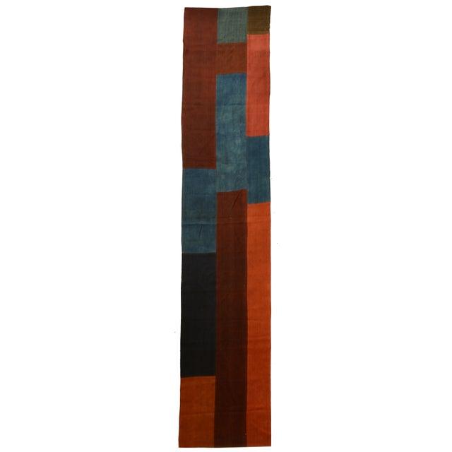 "Patchwork Turkish Rug/Textile - 2' 7"" x 12' 5"" - Image 1 of 2"