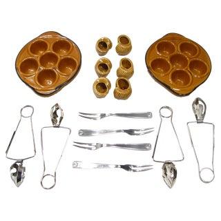French Escargot Service - 16 pieces