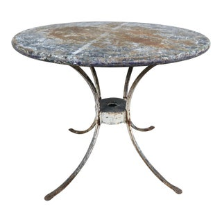 Painted Metal Garden Table