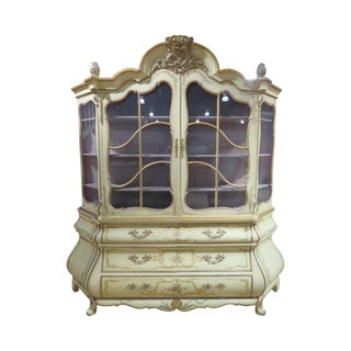 French-Style Painted China Cabinet