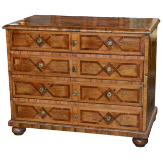 18th Century Continental Inlaid Walnut Commode