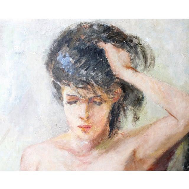 Vintage Walt Litt Oil Painting Nude Woman Portrait  Chairish-1821