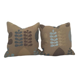 Donghia Fabric Gooose Down Pillows - A Pair