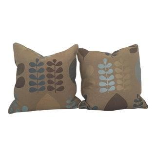 Donghia Fabric Gooose Down Pillows - A Pair