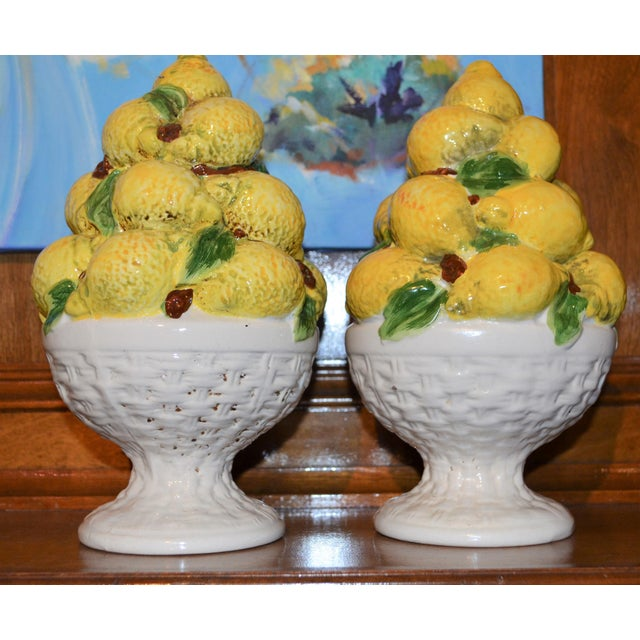 Mid Century Italian Majolica Lemon Topiary - Image 8 of 11